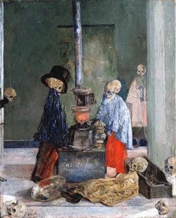 James Ensor Skeletons Warming Themselves